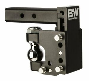 B W Hitches Ts10056 Tow Stow 2 5 16 Adjustable Pintle Hitch Ball Mount 8 Dro