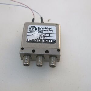 1pc Dow key 401 2308 4 18ghz 28v Sma Rf Single Pole Double Throw Switch
