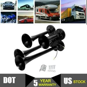 300db 4 trumpet Air Horn Loud Sound 12 24v For Car Motorcycle Truck Boat Jeep