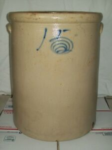 Primitive Antique 15 Bee Sting Stoneware Crock Salt Glazed Red Wing Pottery