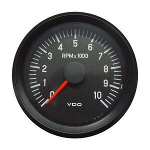 Vdo Cockpit International Tachometer Gauge 10000 Rpm 80mm 3 1 12v 333 035 022c