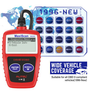 Autel Ms309 Obd Can Check Engine Light Code Reader Auto Scan Car Diagnostic Tool