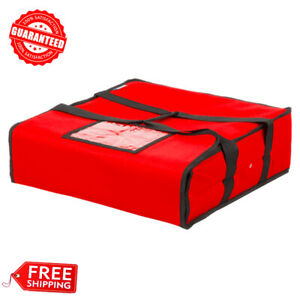 Pizza Delivery Insulated Bag 18 X 18 X 5 Red Nylon Free Shipping