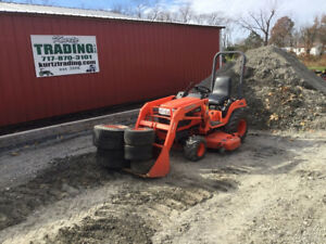2008 Kubota Bx2230 4x4 Diesel Compact Tractor W Loader 60 Mower Only 900hrs