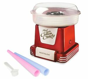 Nostalgia Pcm805retrored Retro Hard Sugar Free Cotton Candy Maker Red