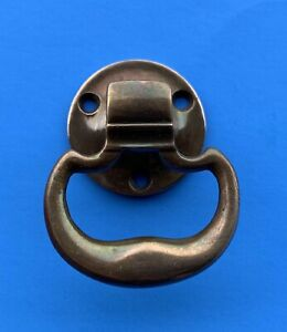 Brass Arts Crafts Nautical Boat Antique Hardware Cabinet Drawer Pull Ring Pull