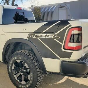 2017 2019 Dodge Ram Rebel Stripe Graphic Modern Truck Vinyl Decal Bed Pickup