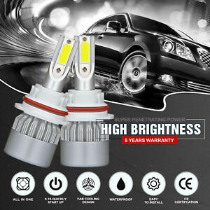 1800w 270000lm 9007 Hb5 Cob Led Headlight Kit Hi Low Beam White 6000k High Power