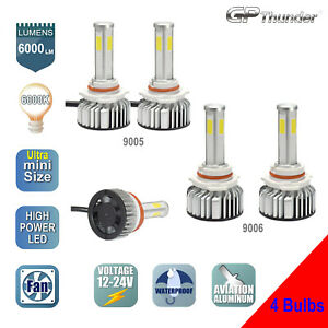 4 side Bright 9005 9006 Shortest Led Headlight Kit High Low Beam Light 4 bulbs