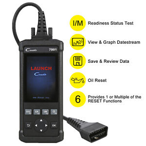 Launch Creader 7001f Obd2 Scanner With 6 Service Functions