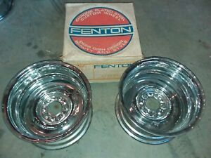 Vintage 1970 S Chrome Reverse 14 X 8 Wheels Nos Ford Chrysler Dodge 70 Custom 60