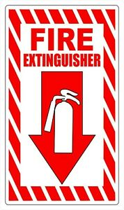 Fire Extinguisher Safety Decal Sticker Label Sign Industrial Free Shipping