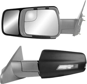New Clip On Tow Mirror Extensions Pair For 2019 2020 Dodge Ram 1500