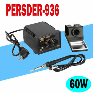110v 60w 936 Power Electric Soldering Station Smd Rework Welding Iron Us On Sale