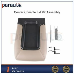 Center Console Organizer Armrest Latch Lid Fits 99 07 Gm Chevy Beige Repair Kit