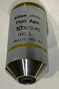 Nikon Plan Apo 10x 0 45 0 17 Dic L Wd 4 Microscope Objective Eclipse Best Deal
