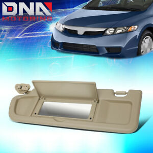 For 2006 2011 Honda Civic Factory Style Tan Driver Left Side Sun Visor Sunshade