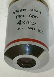 Nikon Plan Apo 4x 0 2 Wd 15 7 Microscope Objective For Eclipse Best Deal