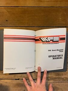Lot Of 9 White Plow Disc Harrow Cultivator Operator s Manual Shop Book 6342 508