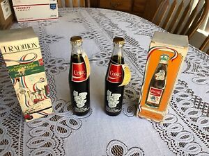 84 Olympic Commemorative Coca Cola 2 Bottles Original Box Limited Edition  (MC3)