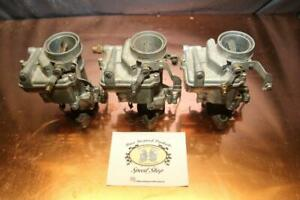 Nos 3x1 Tri Power Carburetor Marvel Schebler 1bbl Universal Flange 2 5 8 To 3