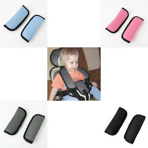 1 Pair Baby Child Car Seat Safety Belt Strap Cover Pad Cushion Shoulder Soft