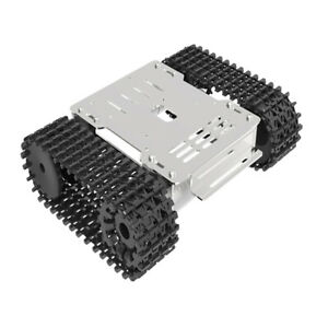 Alloy Robot Tank Car Chassis Kit W Motor For Education Competition