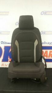 2017 Chevy Camaro Ss Driver Left Front Bucket Seat Black With Gray Stripes