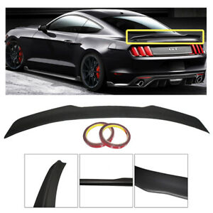 For 2015 2018 Ford Mustang Coupe Primer Finish Rear Trunk Spoiler Wing Lip 15 18