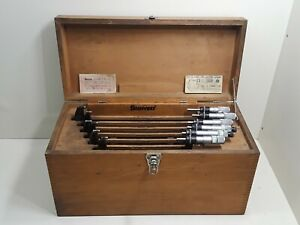 Starrett Model 436 6 12 Micrometer Set In Case With Standards Mixed Set