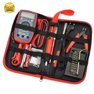 Soldering Iron Kit Electronics Welding Irons Tool Adjustable Temperature 60w Us