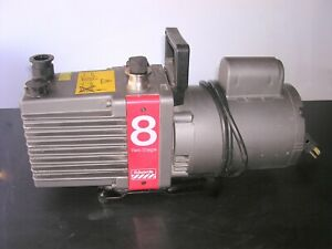 Edwards 8 E2m8 Rotary Vane Two Stage Vacuum Pump Tested To 7 Micron 120v 6 9cfm