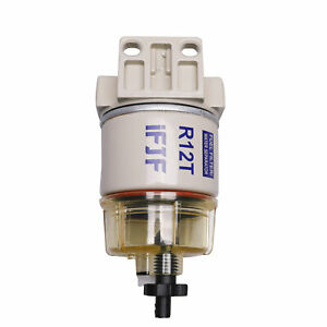 Marine Spin On Fuel Filter With Fuel Fittings Water Separator R12t For Racor New