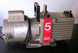 Edwards 5 E2m5 Rotary Vane Two Stage Vacuum Pump Tested To 5 Micron 120v 6 9cfm