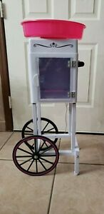 Commercial Nostalgia Cotton Candy Machine Maker Cart Electric