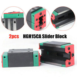 Linear Block 2pcs Hgh15ca For Linear Rail Slide Cnc Router Durable Carriage Usa