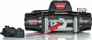 Warn 103252 Vr10 Winch 10000 Pound Line Pull 94 Ft Steel Rope Wired Remote