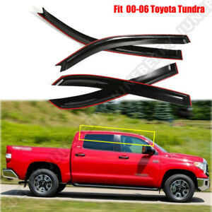 Us For 2000 2006 Toyota Tundra Extended Cab Window Visor Shade Rain Sun Guard Ej