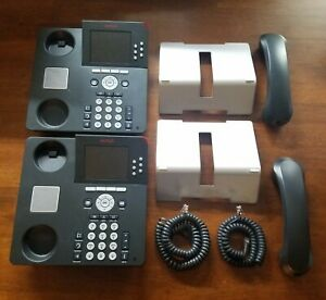Lot Of 2 Used Avaya 9640g Digital Ip Office Business Phones Stands