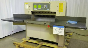 1999 Challenge Champion 370xg 37 Hydraulic Paper Cutter Video Inv Co024