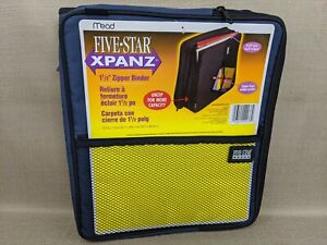Mead Five Star Xpanz 1 5 Blue Zipper Binder With Index Dividers 19 Years Old