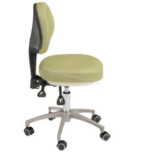 Adjustable Pu Leather Dental Mobile Doctor s Stools Dentist Chair Capacity 450kg