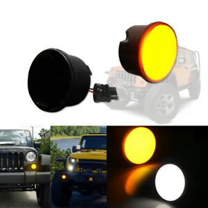 For 2007 2017 Jeep Wrangler Jk Switchback Dual Color Turn Signal Light Drl Lamps