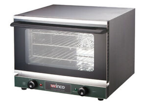 New Commercial Electric Convection Oven Half Size Winco Eco 500 120v
