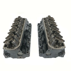 Ford Gt40p 302 5 0l 4 Bar Cylinder Head Assembly Genuine Oem Set Pair