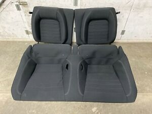 2015 2019 Mustang Gt Coupe Rear Seats Black Cloth Oem