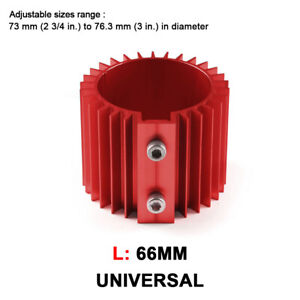 Universal Racing Engine Oil Filter Cooler Heat Sink Cover Cap Billet Kit Red