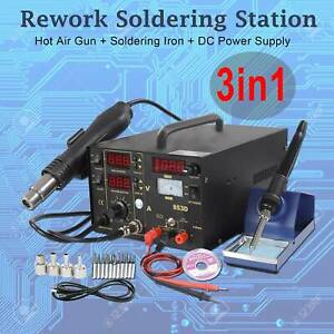 3 In 1 Soldering Rework Station 853d Solder Iron Smd Hot Air Gun Dc Power Supply
