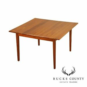 Studio Crafted Solid Cherry 48 Square Dining Table With Leaves