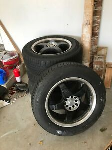 Michelin Winter Snow Tires 225 60 R17 Mb Five Rims With Tpms Sensors